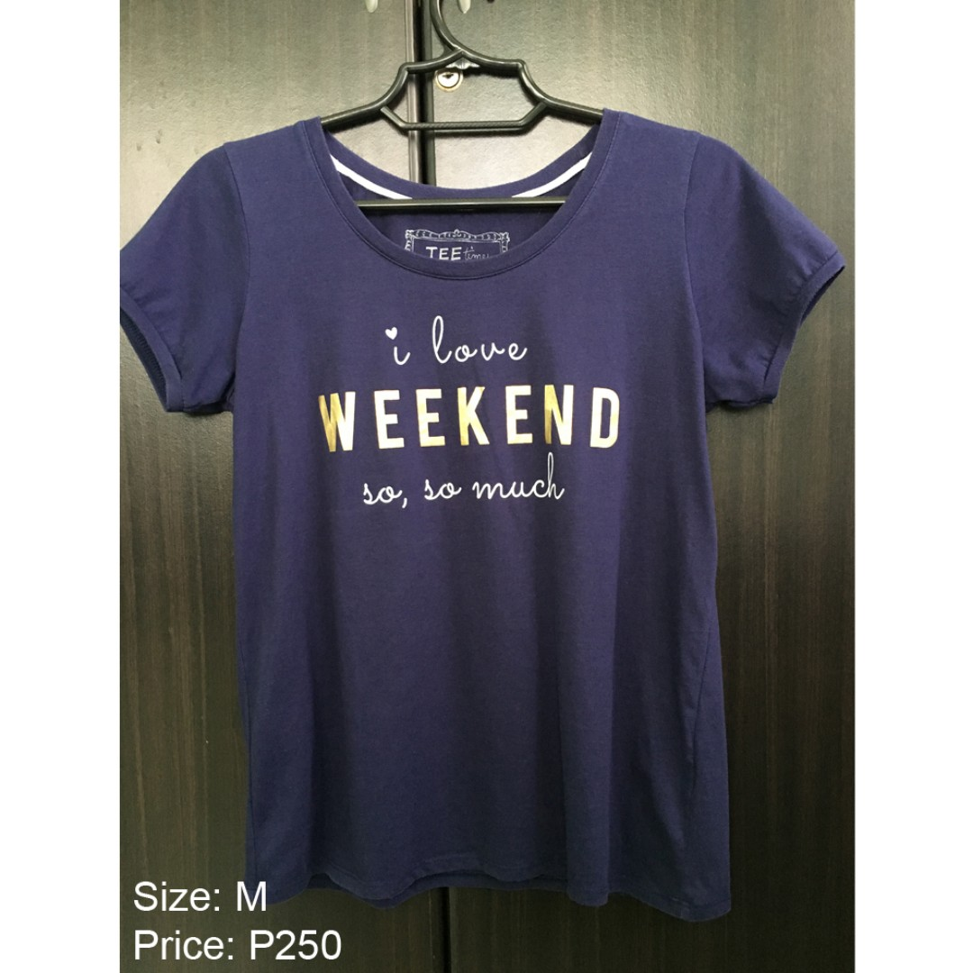 For Me Top Blouse Navy Blue Gold