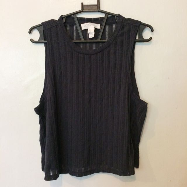 Forever 21 Gray Cropped Top