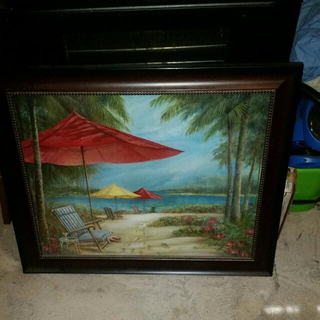 Framed Painting  - Beach Setting