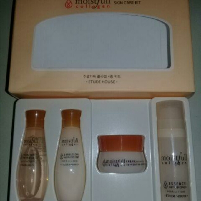 Free Ongkir!! Etude House Moistfull Collagen Skincare Kit 4EA