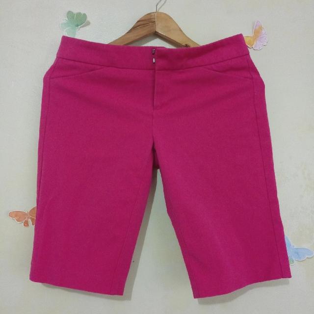 Fuchsia Cynthia Rowley Bermuda Shorts