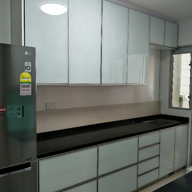 Fully Aluminium Kitchen Cabinet Furniture Shelves Drawers On