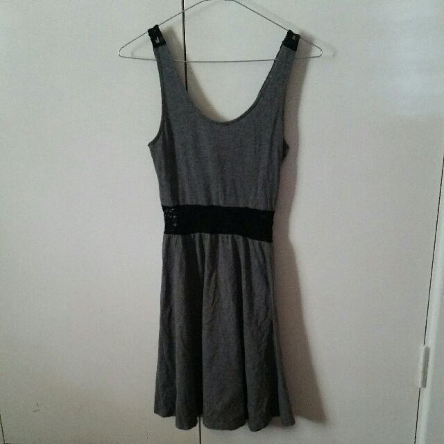 **Grey Lace Summer Dress
