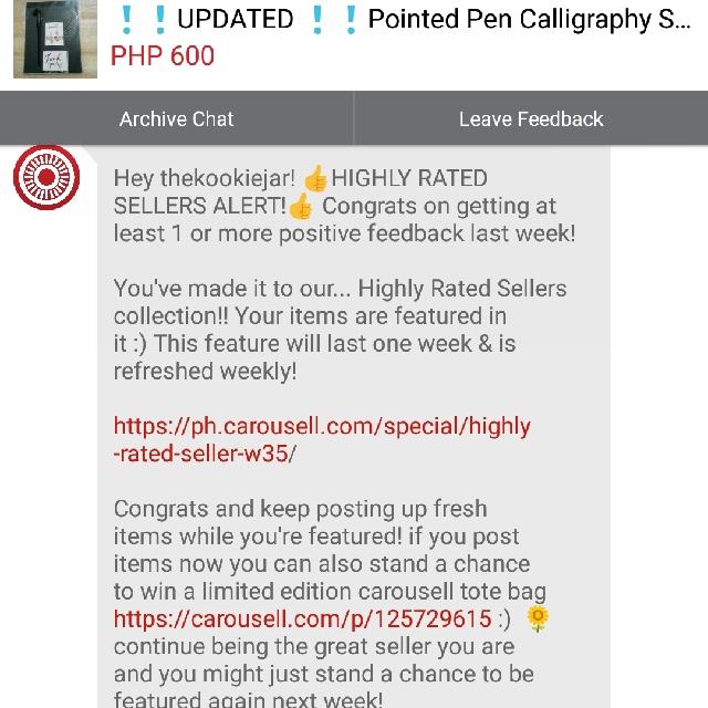 Highly Rated Seller Alert #2