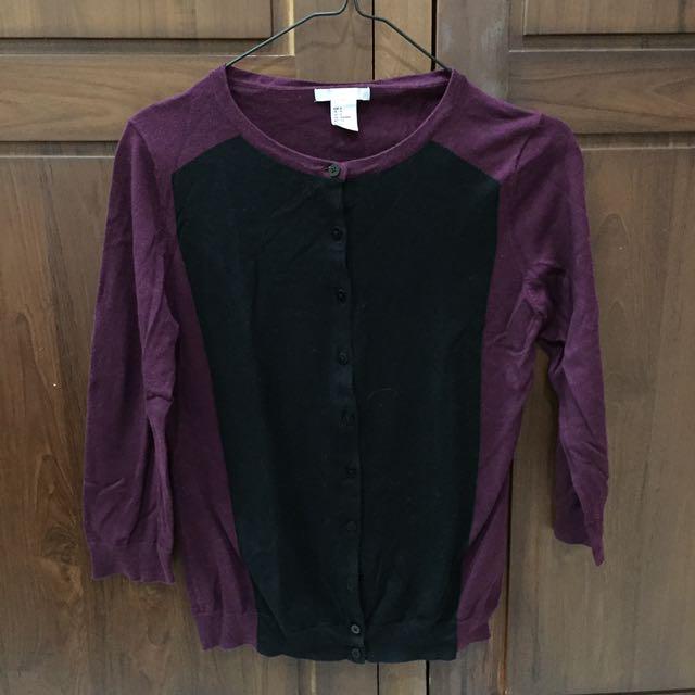 H&M Purple & Black Cardigan