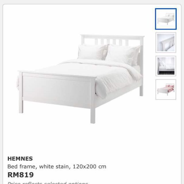 Ikea Super Single Bed Hemnes Home Furniture On Carou