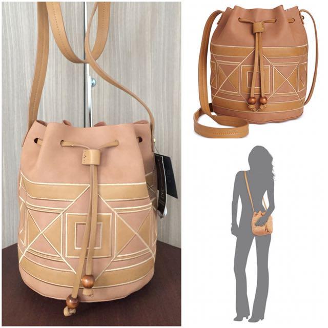 INC International Concepts Four Corners Bucket Bag