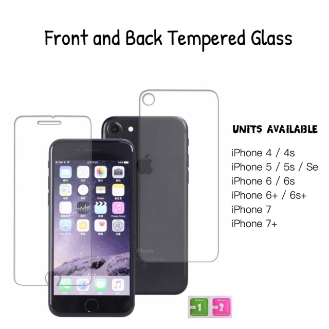 Iphone Front And Back Tempered Glass