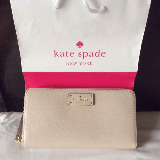 Kate Spade Nude Neda Zip Around Wallet