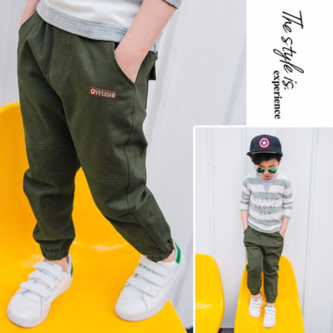 Kids Boy Fashion Jogger Pants Babies Kids Boys Apparel On Carousell