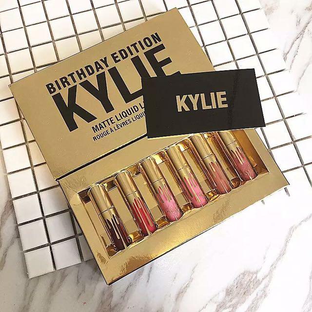 KYLIE Birthday Lipstick Edition 6pcs SET
