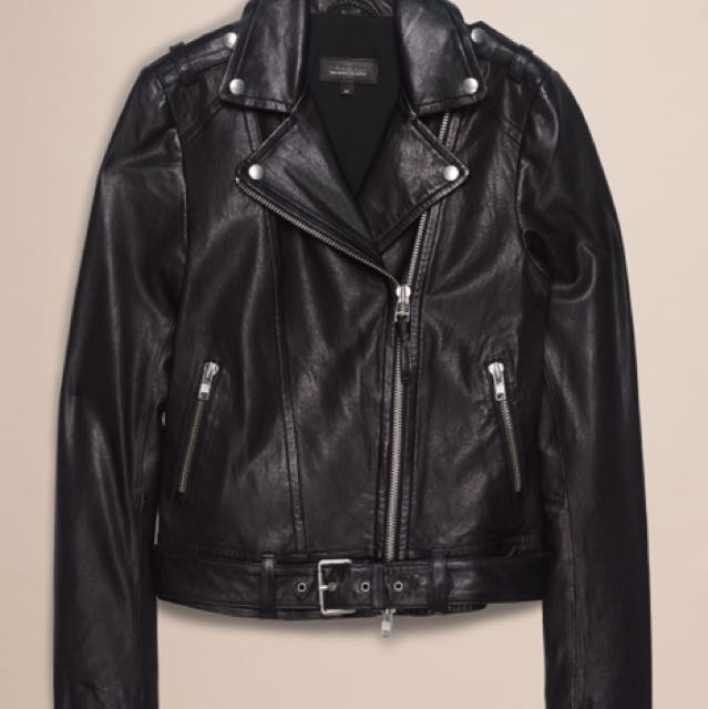Mackage florica leather jacket xxs aritzia