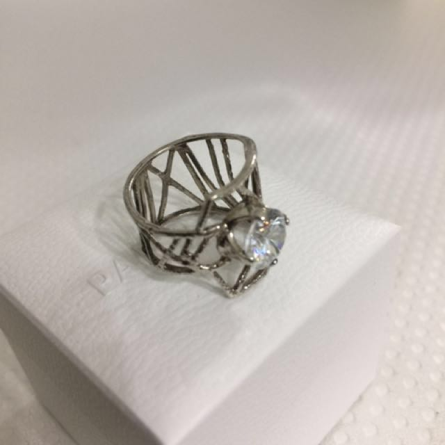 Magnolia sterling silver ring
