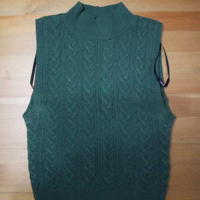 #Malaysia54 H&M Green Knitted Crop Top