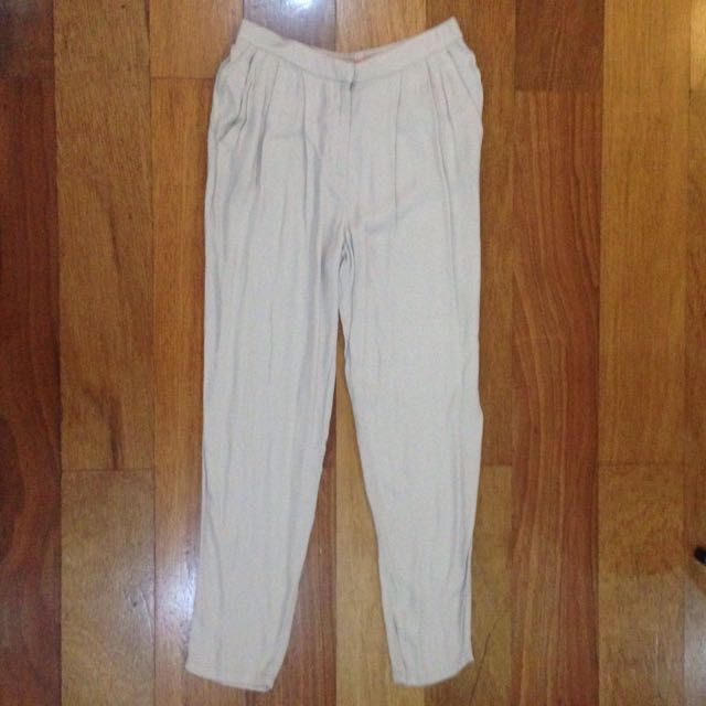 Mango Beige Loose Pants