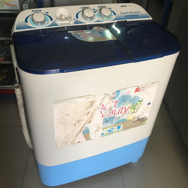 Mesin Cuci Sanyo Smart Beauty 8 Kg Sehat Siap Pakai Electronics Others On Carousell