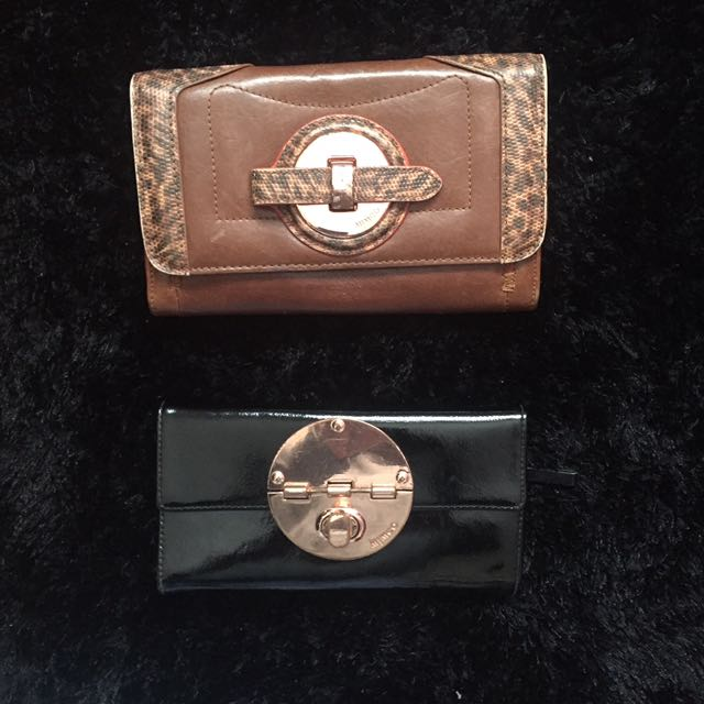 Mimco wallets black and brown