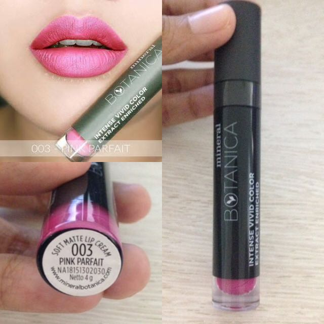 Mineral Botanica Soft Matte Lip Cream 003 Pink Parfait, Health & Beauty, Makeup on Carousell