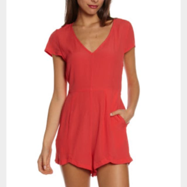 Minkpink Playsuit in Red- Size XS BNWT
