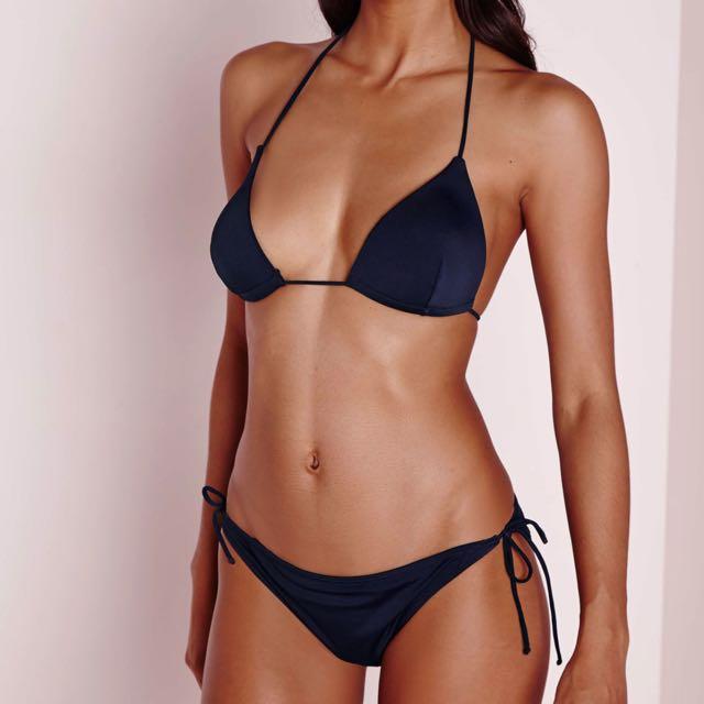 Missguided Navy Bikini Set