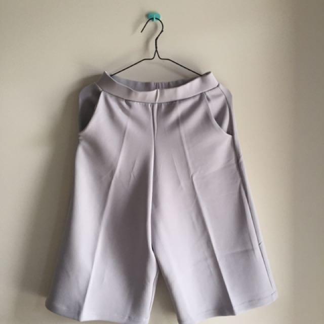 misty grey culotte