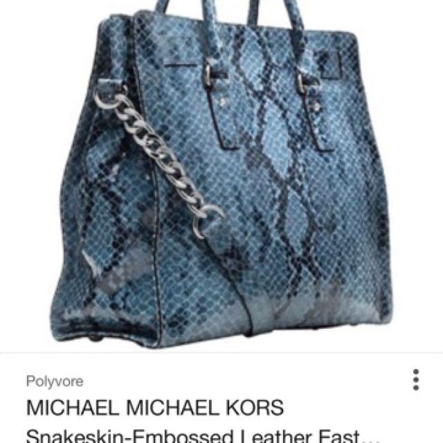 Mk bag snakeskin