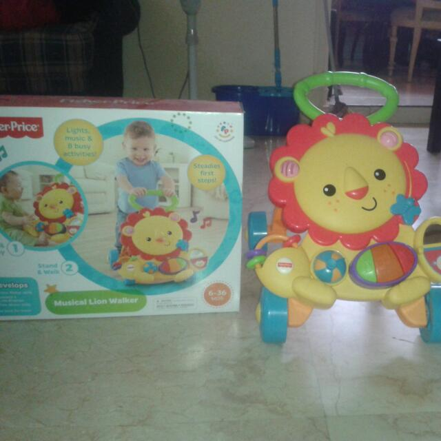 Musical Lion Walker Fisher Price, Bayi & Anak, Mainan Anak & Bayi di Carousell