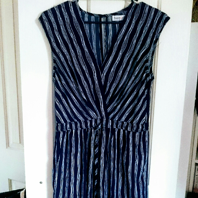 Nautical Stripe Long Dress Size 12