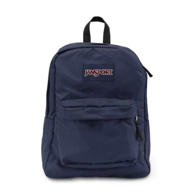 Navy Blue Jansport Bag
