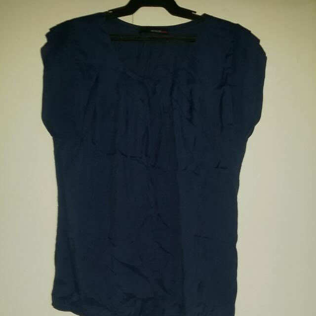 Navy Blue Red Hot Chili Top