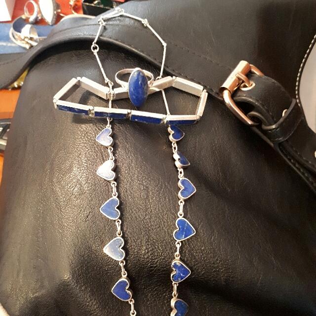 Necklace Bracelet Ring Set