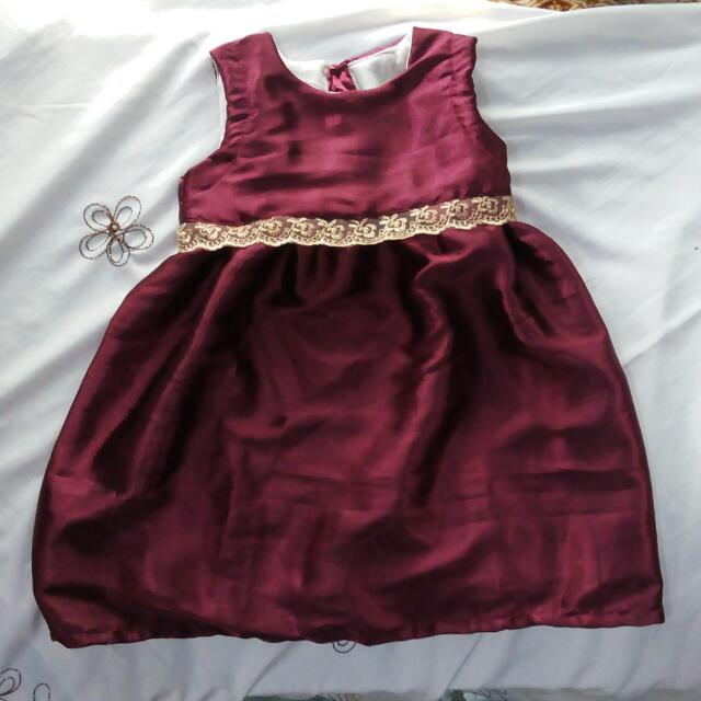 (New) Maroon Dress