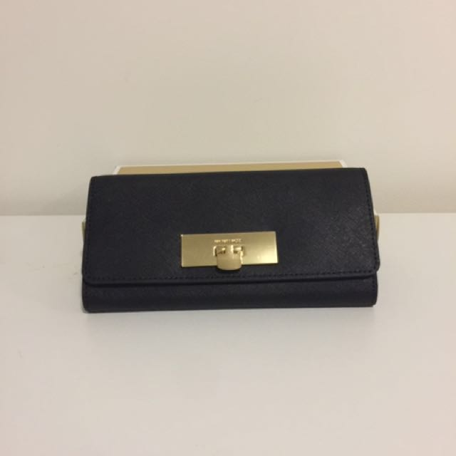 NWT Authentic Michael Kors Callie Carryall Wallet/ Clutch - Black