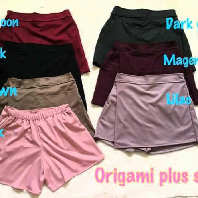 Origami Plus Size Shorts