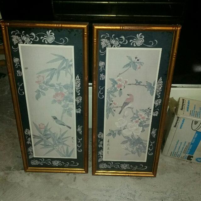 Pair Of Framed Paintings - BIRDS