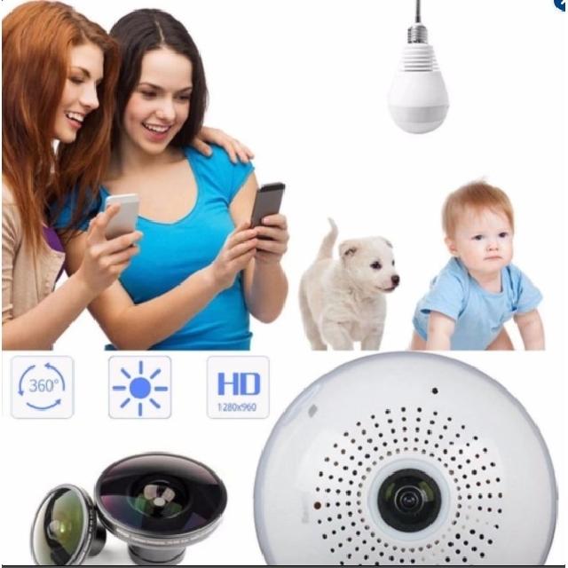 Panoramic IP Camera Bulb Lamp