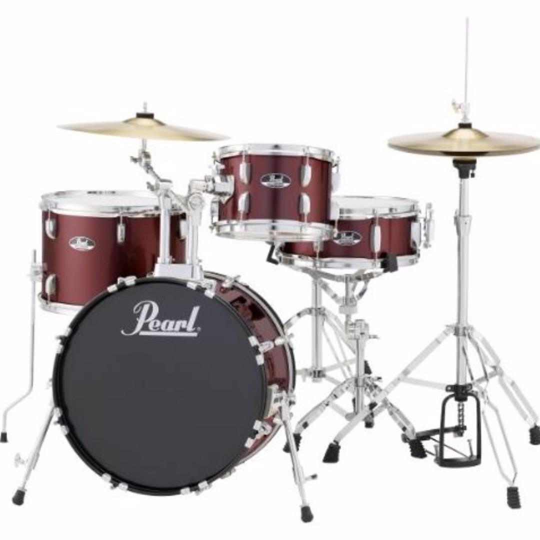 Pearl Roadshow 4 Piece Jazz Drum Set Music Media
