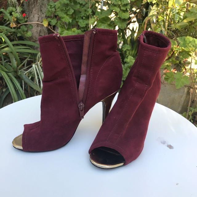 Peep Toe Stiletto Boots