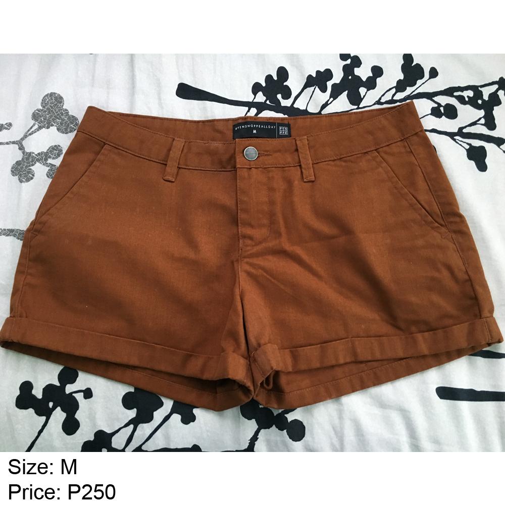 Penshoppe Shorts Copper Brown