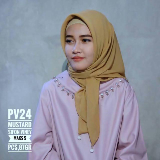 Plain hijab sifon viney