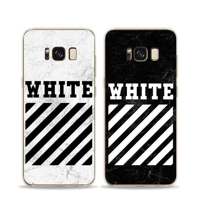 buy popular e00f6 5877e [PO]Off White Samsung Galaxy S7/S8/S9/Note 8 Full Cover Case