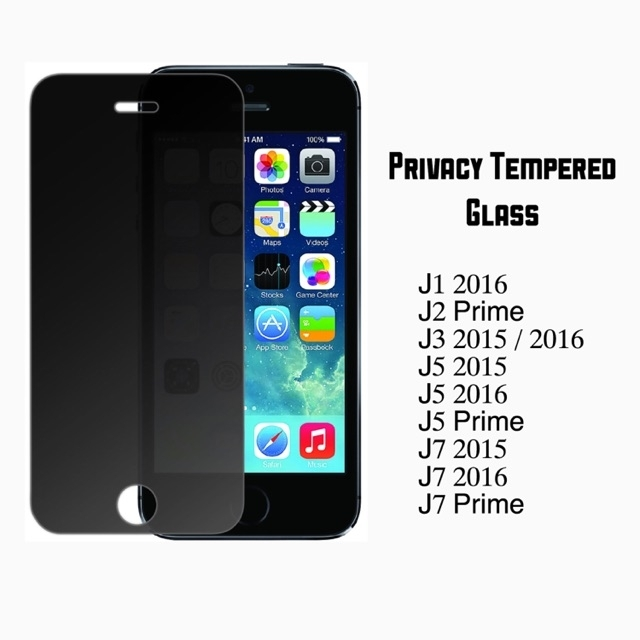 Privacy Tempered Glass For Samsung J Series