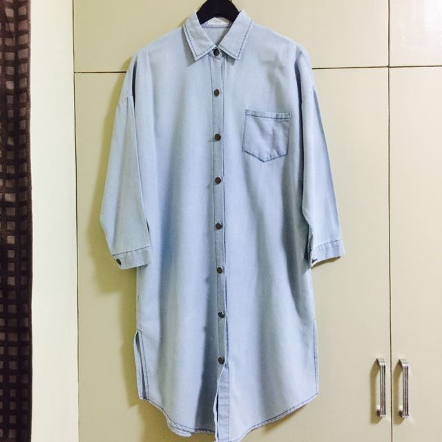 QME Denim Wash Shirt Dress