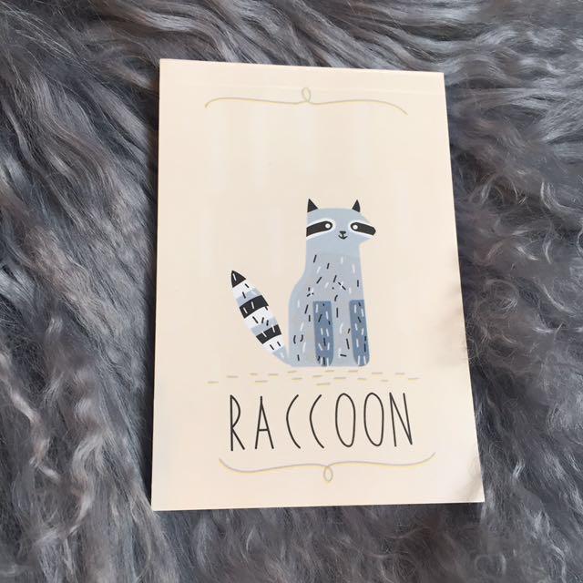 Raccoon Kawaii Notebook