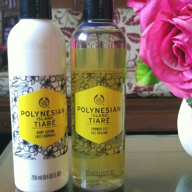 SALE! Paket The Body Shop Polynesian Island Tiare Shower Gel And Body Lotion