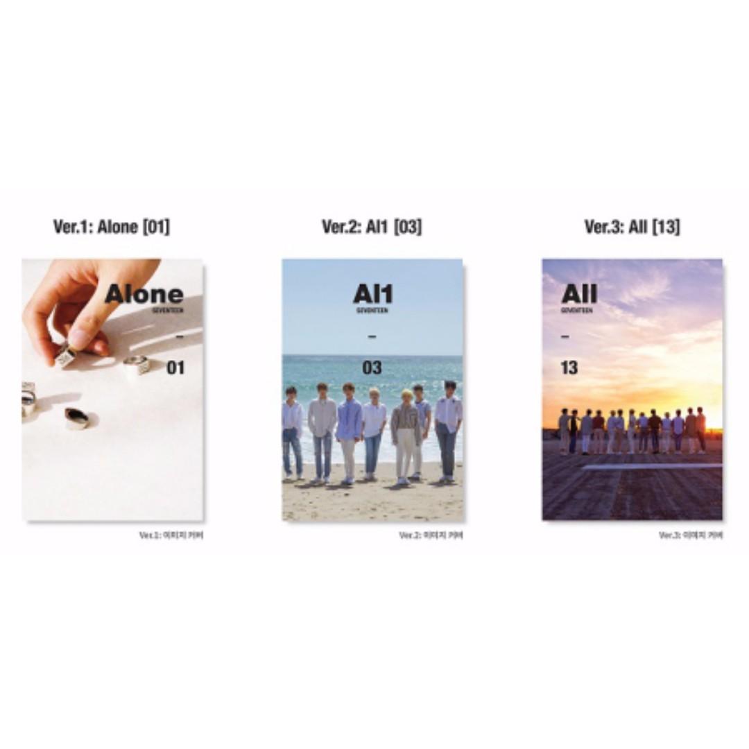 SEVENTEEN- Al1 (Alone, Al1, All13) Mini Album Vol. 4