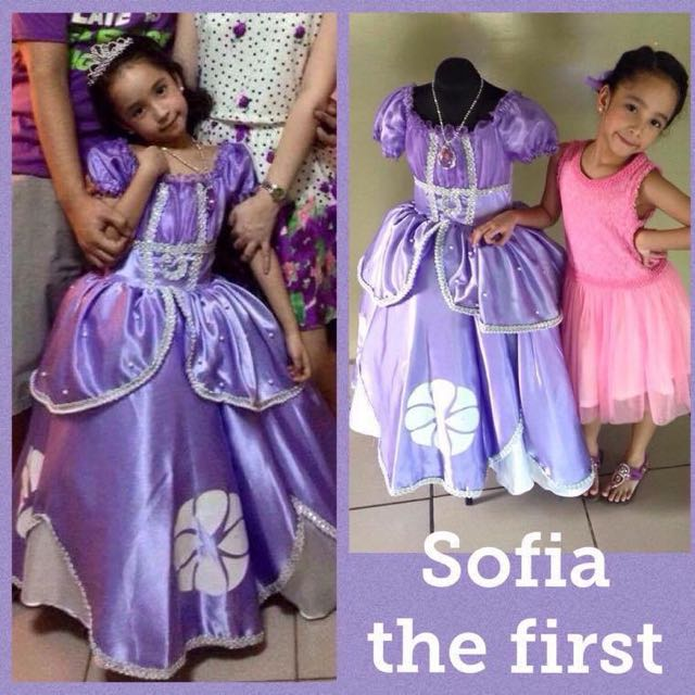 Sofia the first gown, Babies & Kids, Girl\'s Apparel on Carousell