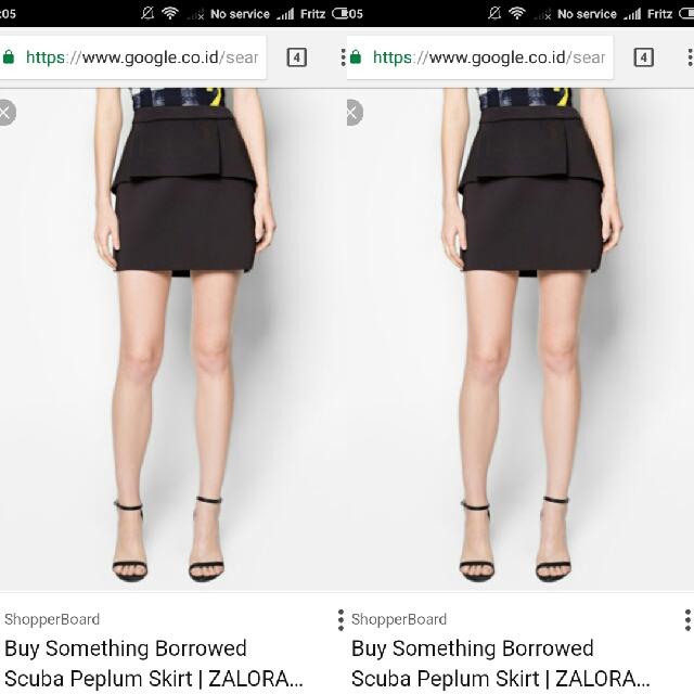 Something Borrowed Black Skirt