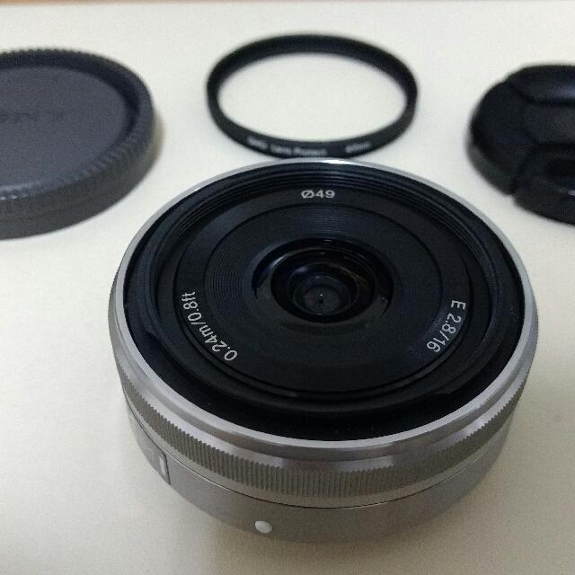 Sony SEL 16mm F2.8 E鏡 定焦鏡 NEX kit 鏡頭