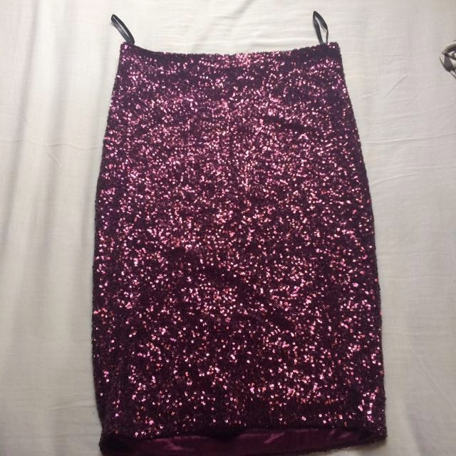 Sparkle Purple Skirt by NEWLOOK